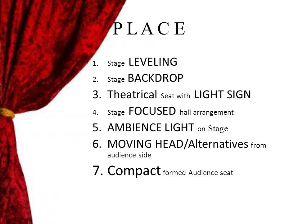 P L A C E Compact formed Audience seat Theatrical Seat with LIGHT SIGN