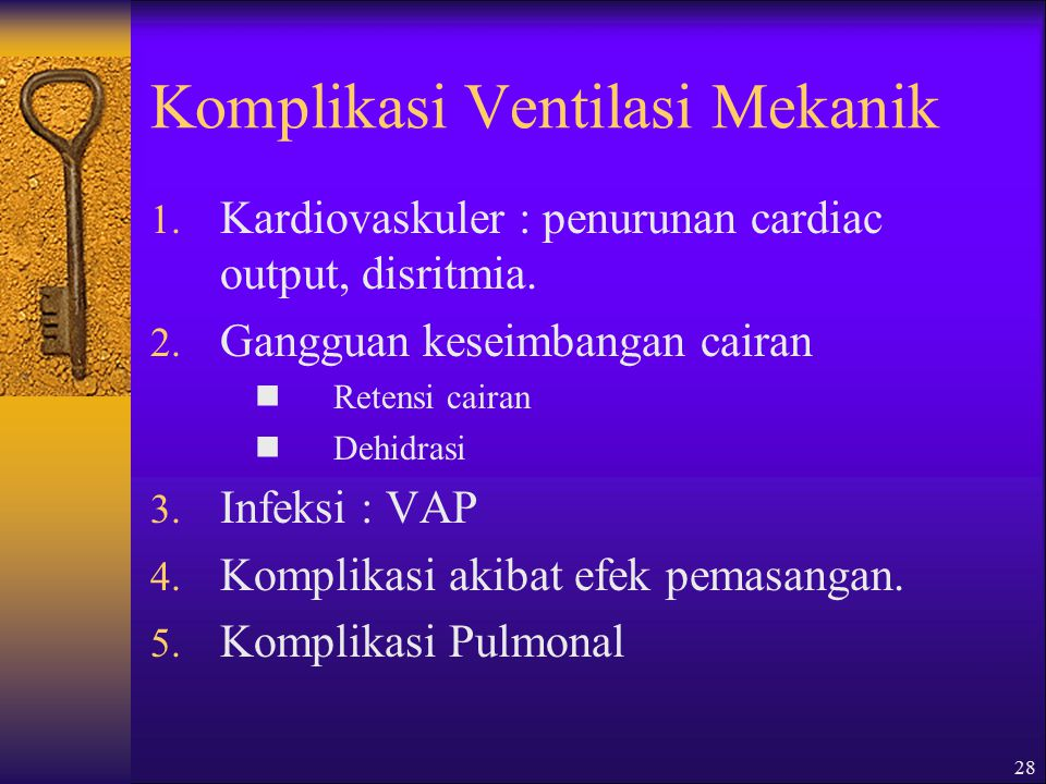 Komplikasi Ventilasi Mekanik