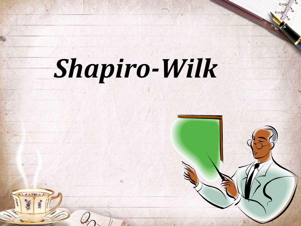 Shapiro-Wilk