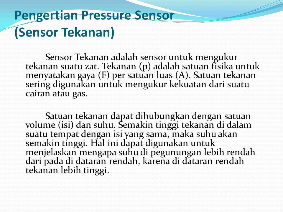 Pengertian Pressure Sensor (Sensor Tekanan)