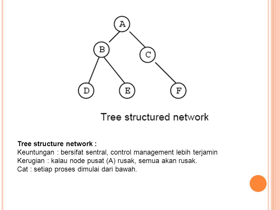 Tree structure network :