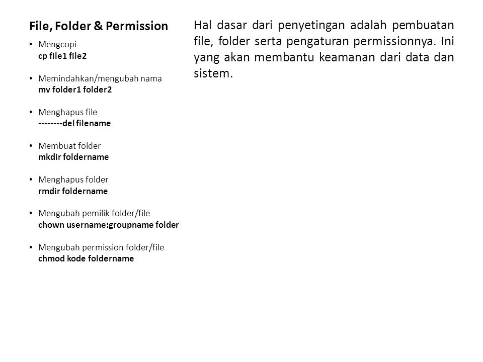 File, Folder & Permission