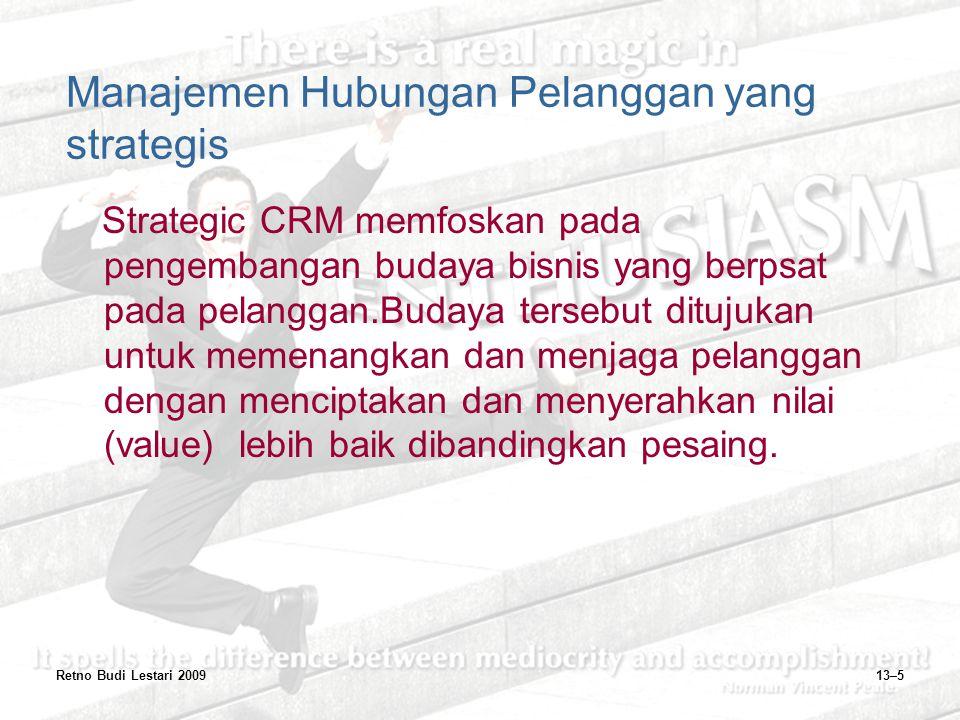 Manajemen Hubungan Pelanggan yang strategis