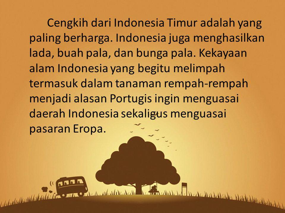 Cengkih dari Indonesia Timur adalah yang paling berharga