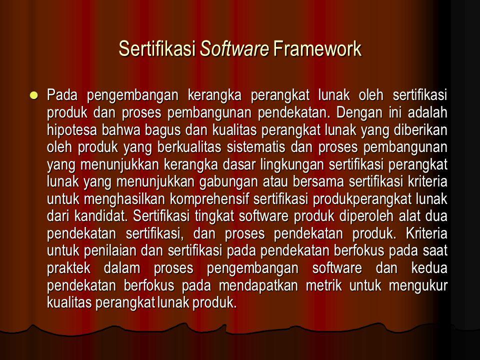 Sertifikasi Software Framework