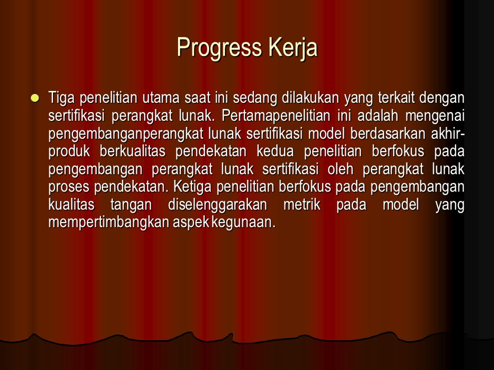 Progress Kerja