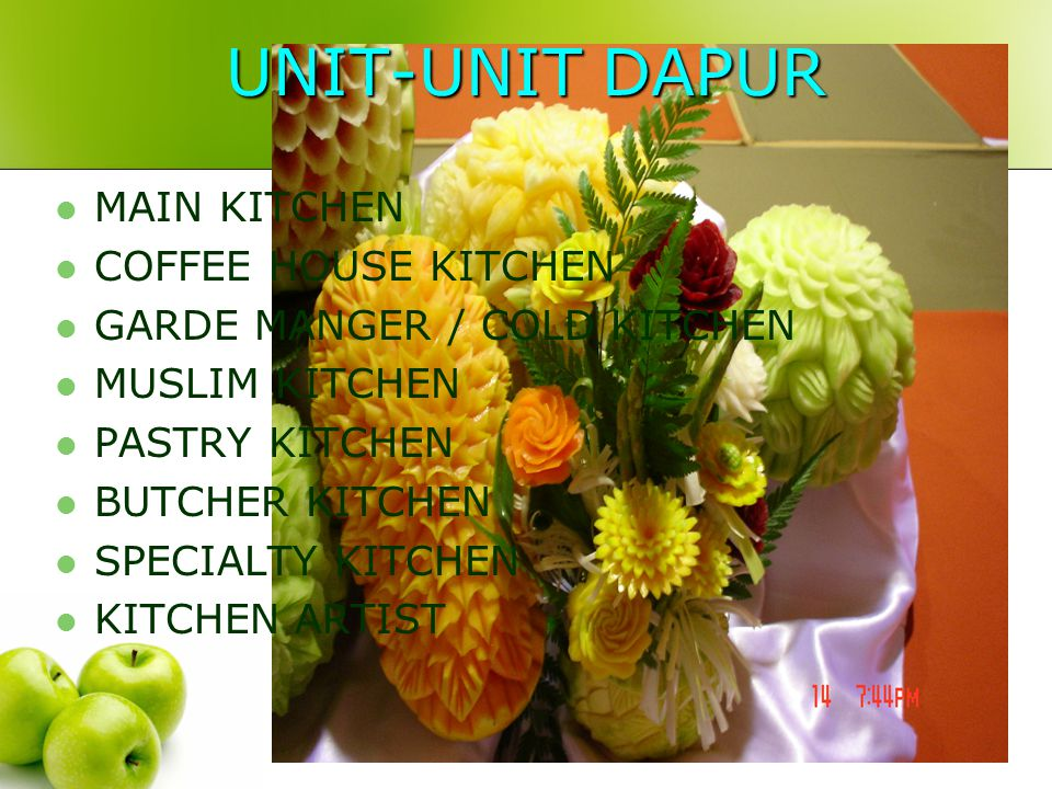 UNIT-UNIT DAPUR MAIN KITCHEN COFFEE HOUSE KITCHEN
