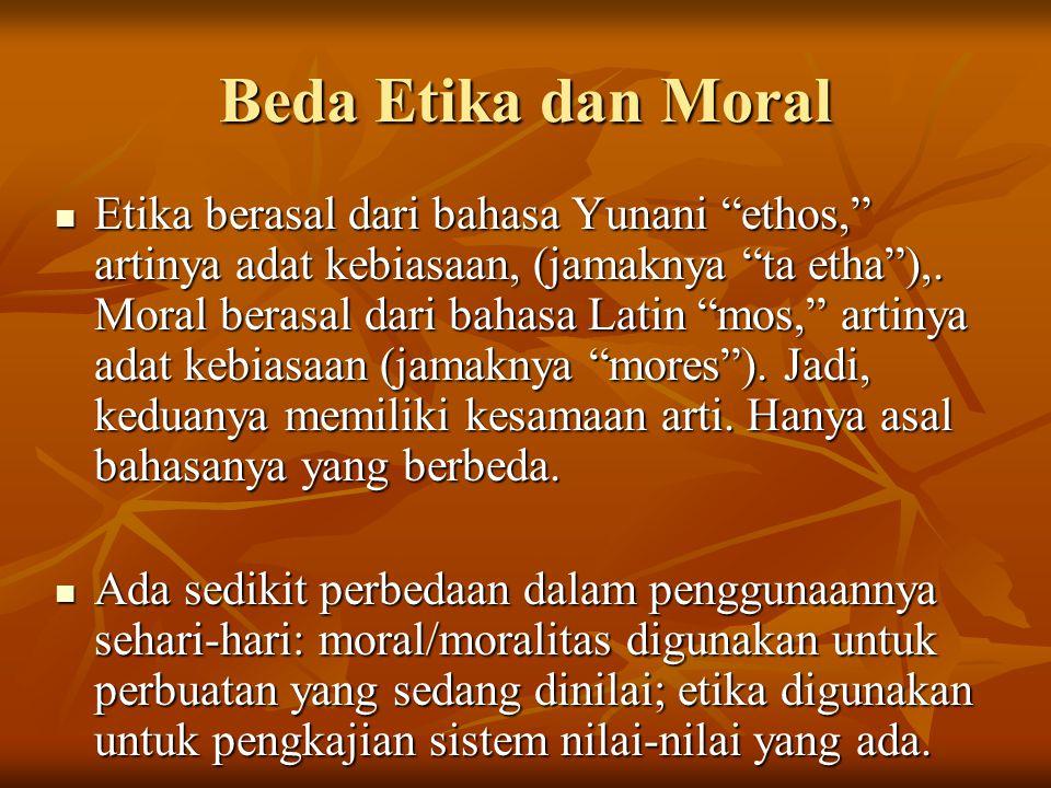 Beda Etika dan Moral