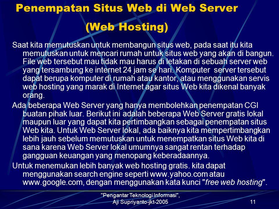 Penempatan Situs Web di Web Server (Web Hosting)