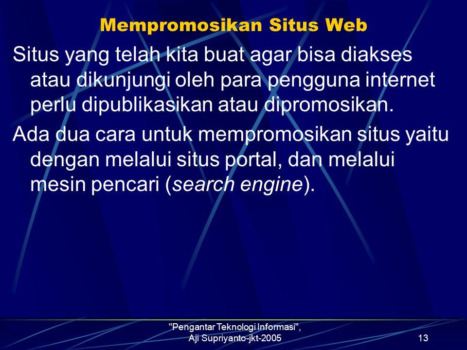 Mempromosikan Situs Web
