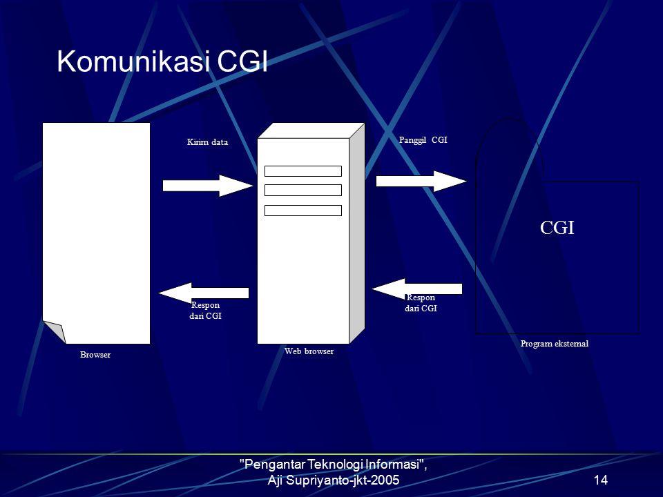 Pengantar Teknologi Informasi , Aji Supriyanto-jkt-2005