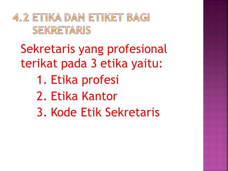 4.2 etika dan etiket bagi sekretaris