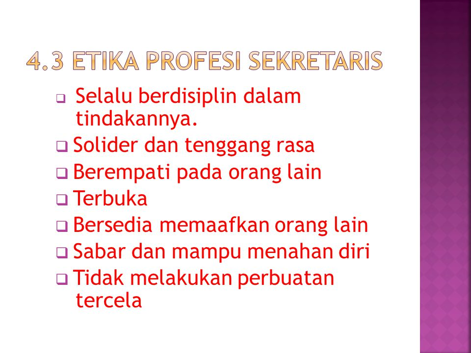 4.3 etika profesi sekretaris