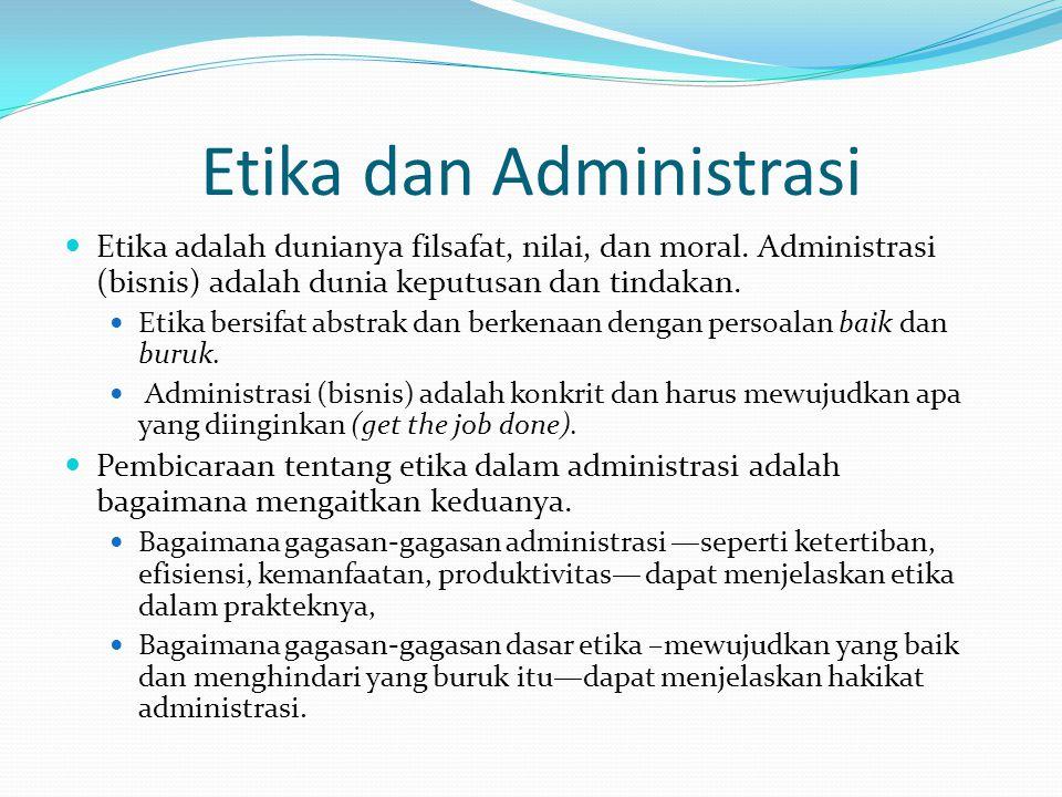 Etika dan Administrasi
