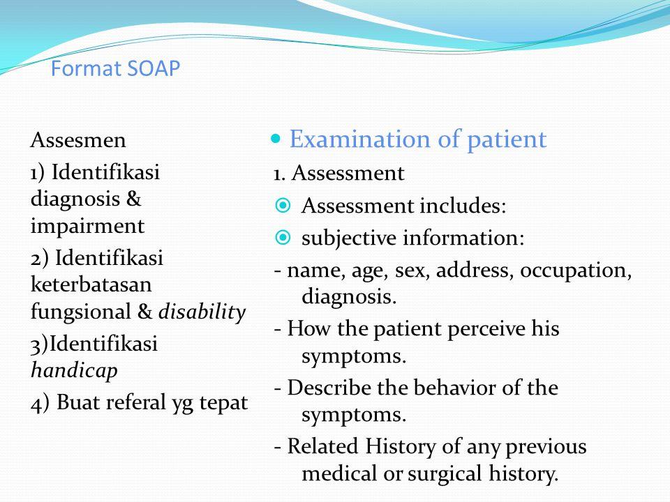 Examination of patient