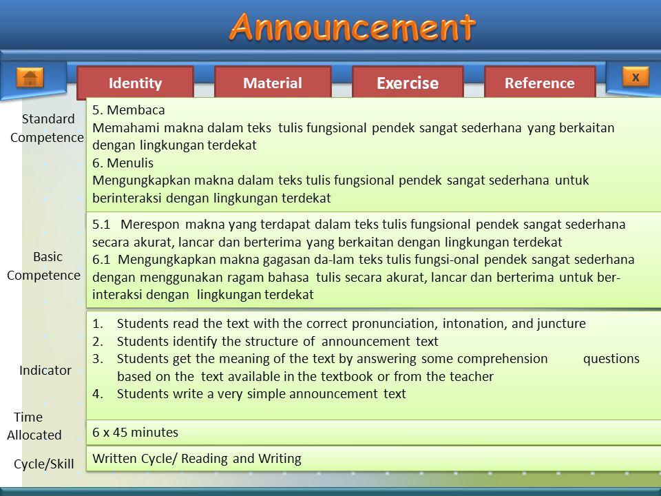 Standard Basic 5. Membaca