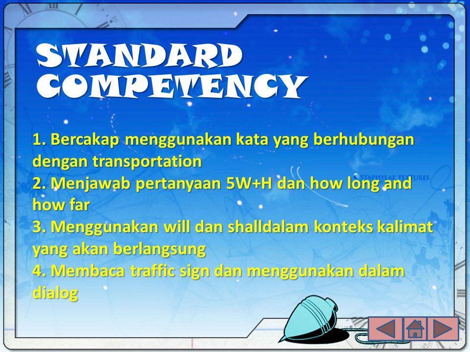 STANDARD COMPETENCY