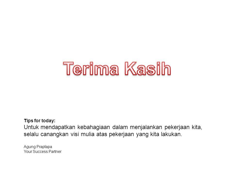 Terima Kasih Tips for today: