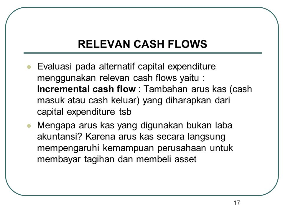 RELEVAN CASH FLOWS
