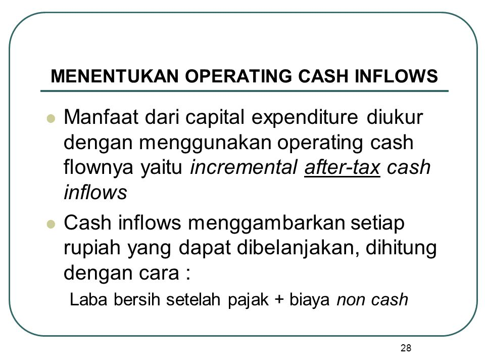 MENENTUKAN OPERATING CASH INFLOWS