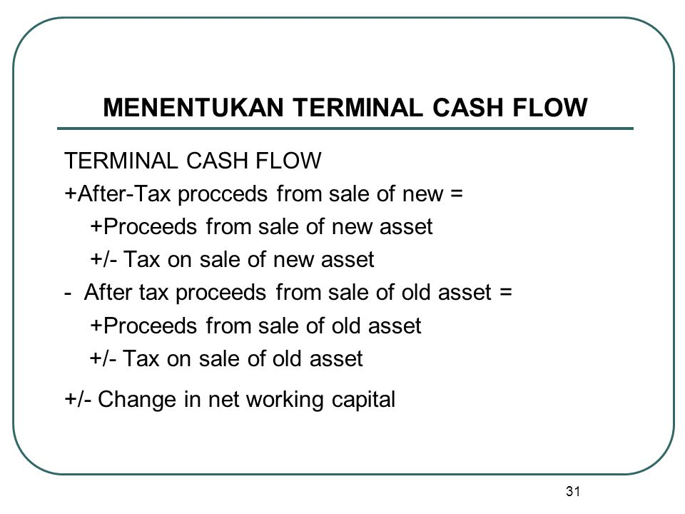 MENENTUKAN TERMINAL CASH FLOW