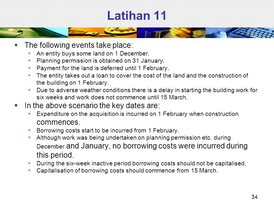 Latihan 11 The following events take place: