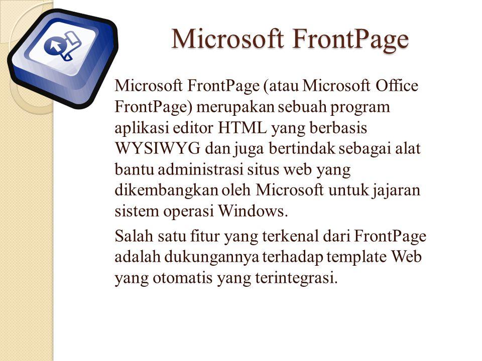 Microsoft FrontPage