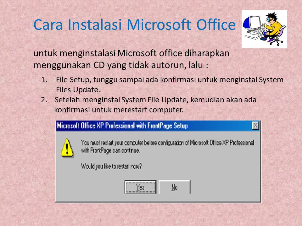 Cara Instalasi Microsoft Office