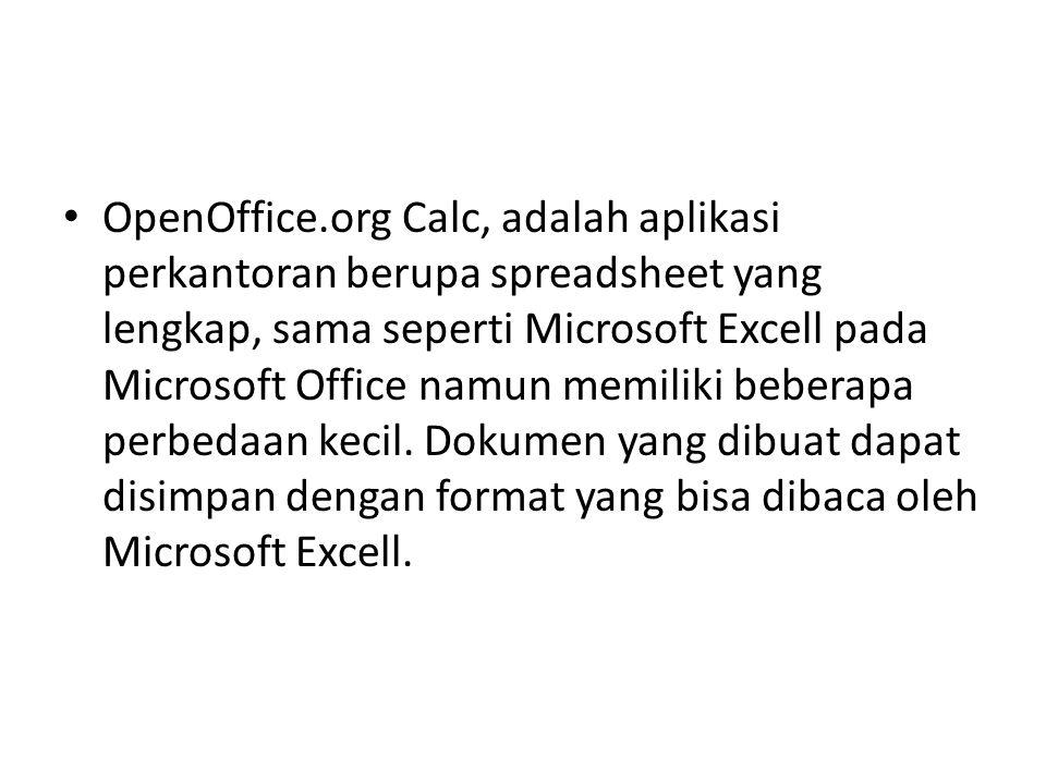 OpenOffice.org Calc, adalah aplikasi perkantoran berupa spreadsheet yang lengkap, sama seperti Microsoft Excell pada Microsoft Office namun memiliki beberapa perbedaan kecil.