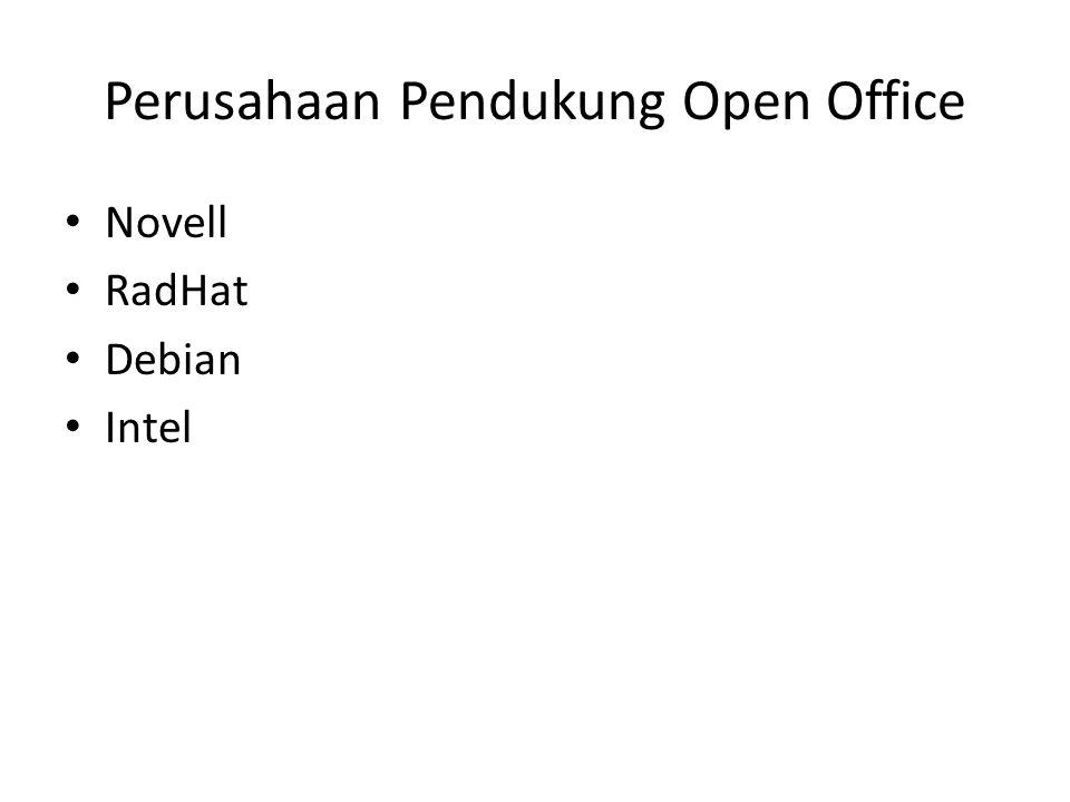 Perusahaan Pendukung Open Office