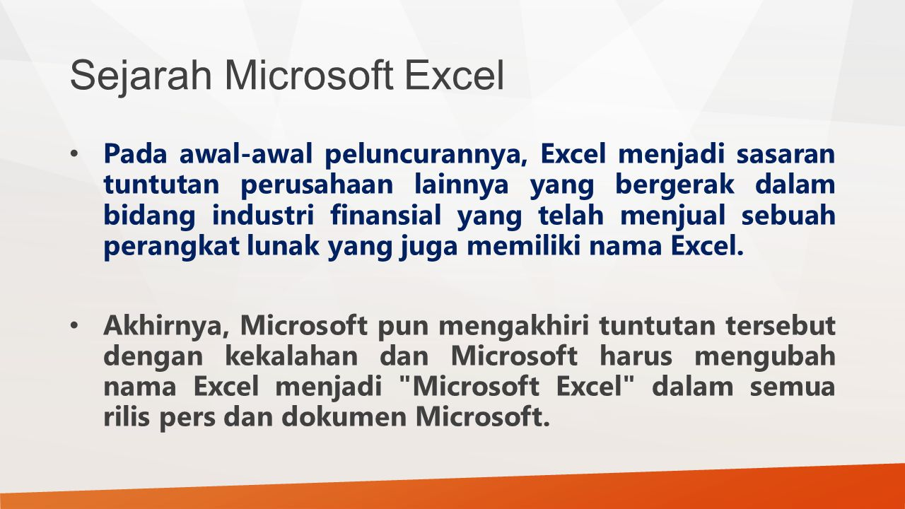 Sejarah Microsoft Excel