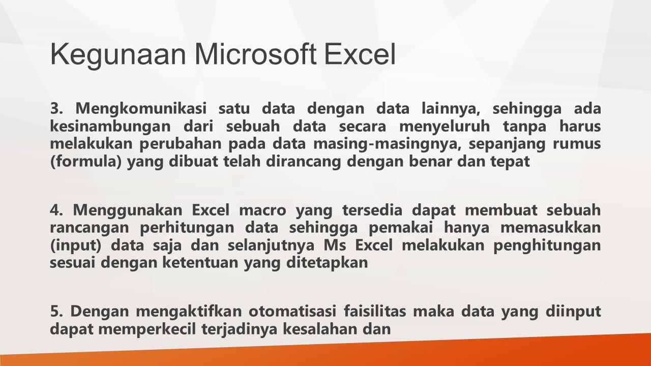 Kegunaan Microsoft Excel