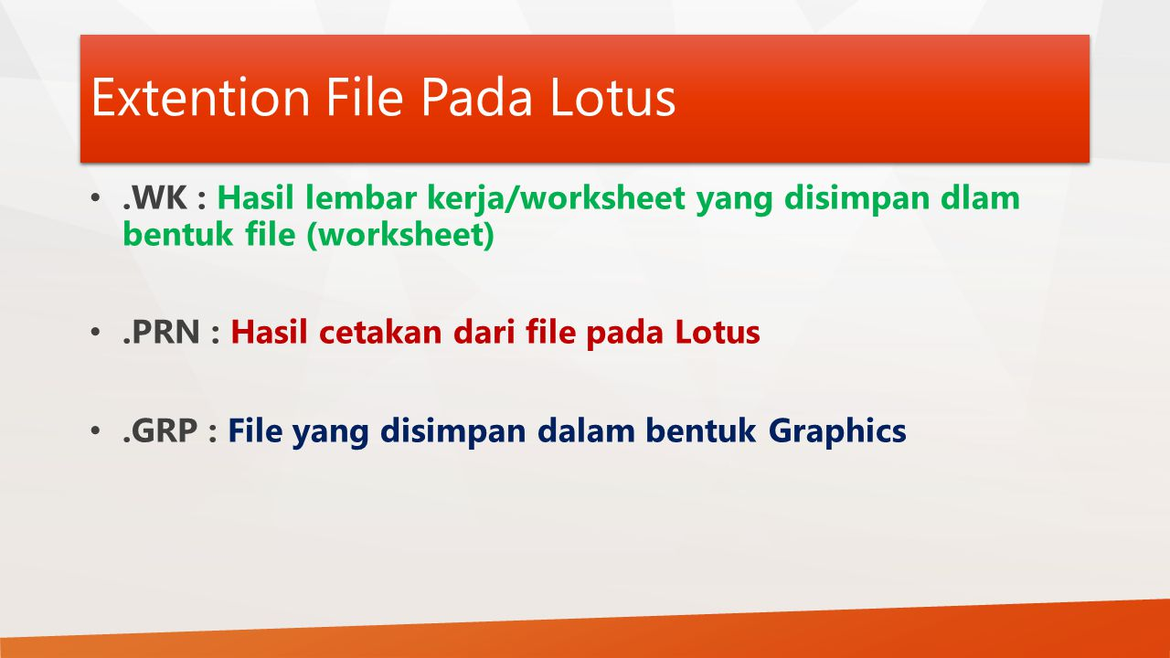 Extention File Pada Lotus