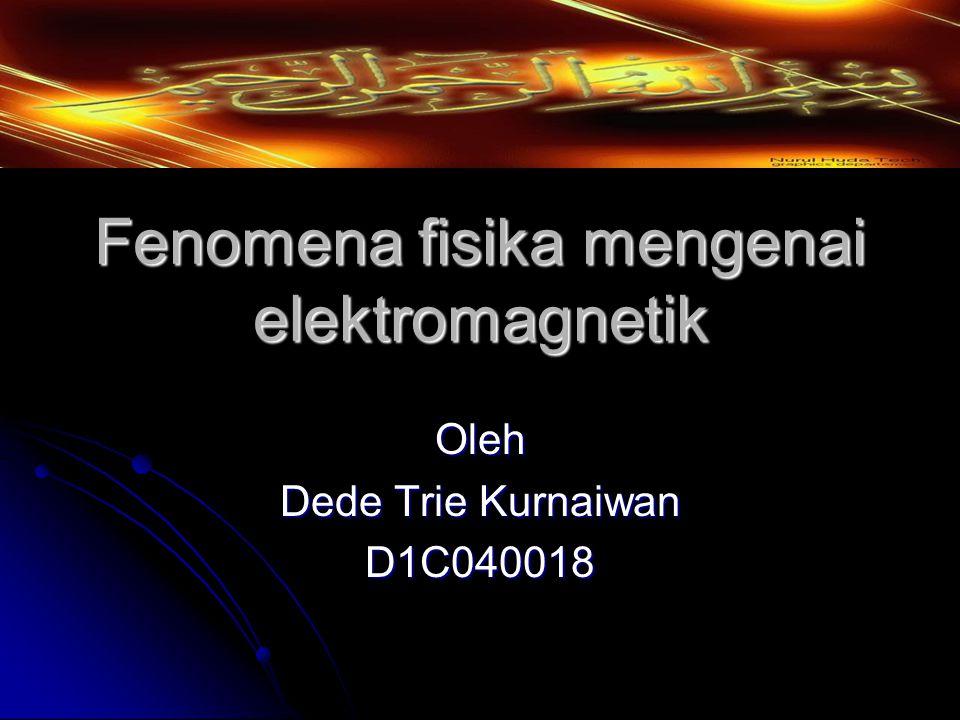 Fenomena fisika mengenai elektromagnetik