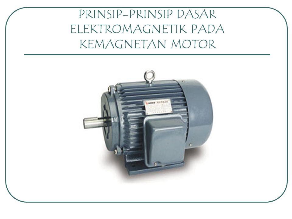 PRINSIP-PRINSIP DASAR ELEKTROMAGNETIK PADA KEMAGNETAN MOTOR