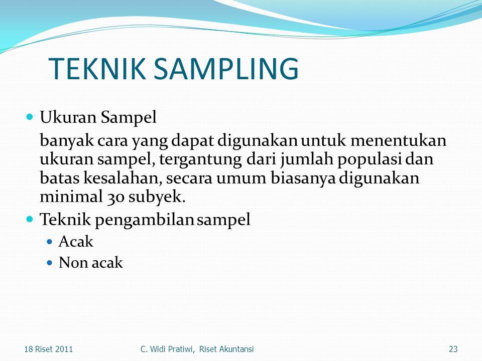 TEKNIK SAMPLING Ukuran Sampel