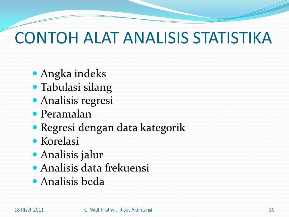 CONTOH ALAT ANALISIS STATISTIKA
