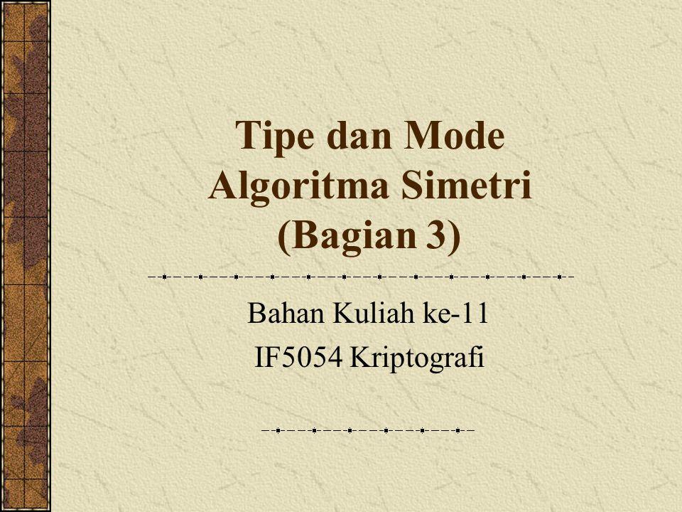 Tipe dan Mode Algoritma Simetri (Bagian 3)
