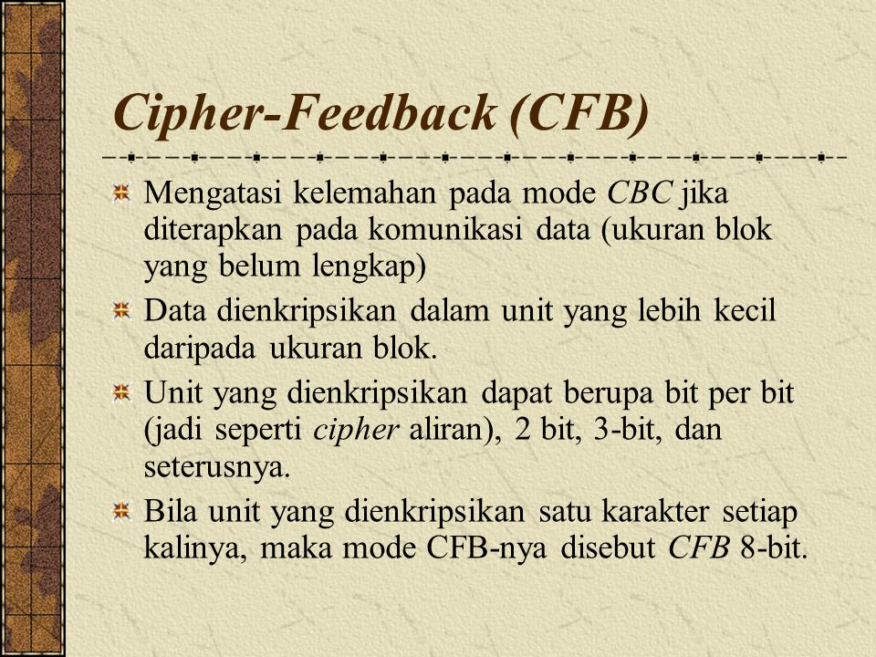 Cipher-Feedback (CFB)