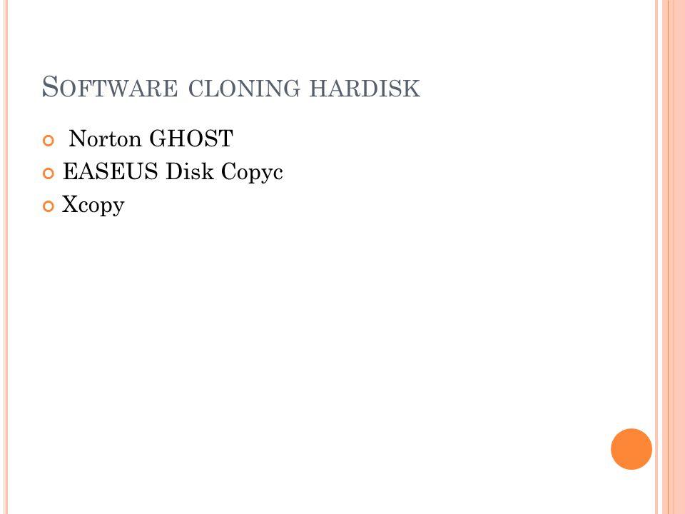 Software cloning hardisk
