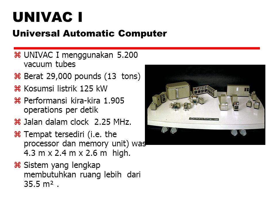 UNIVAC I Universal Automatic Computer