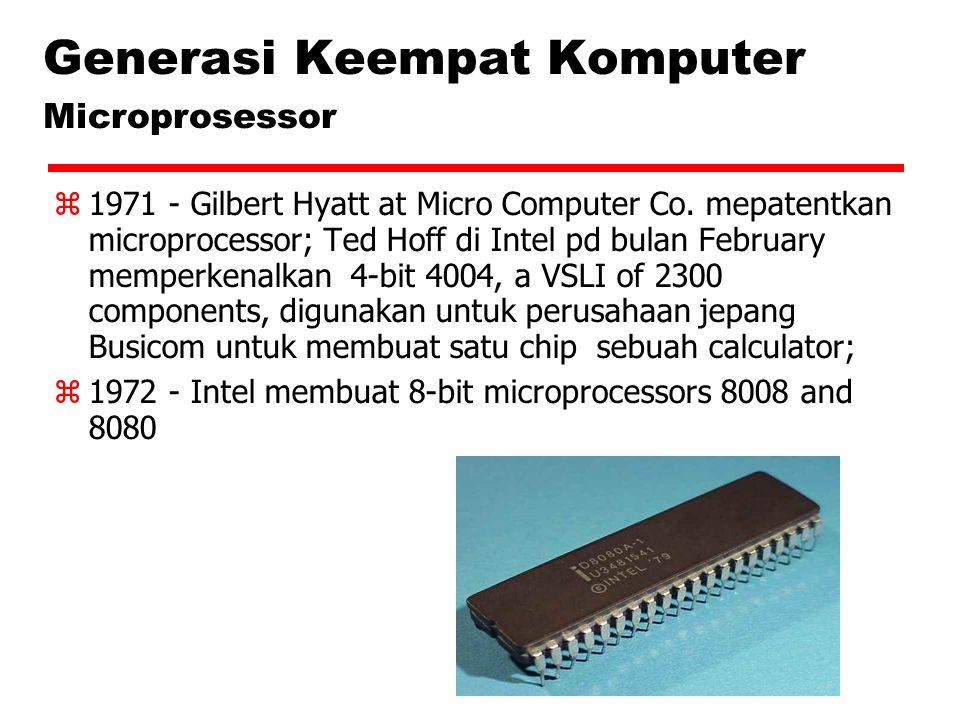 Generasi Keempat Komputer Microprosessor