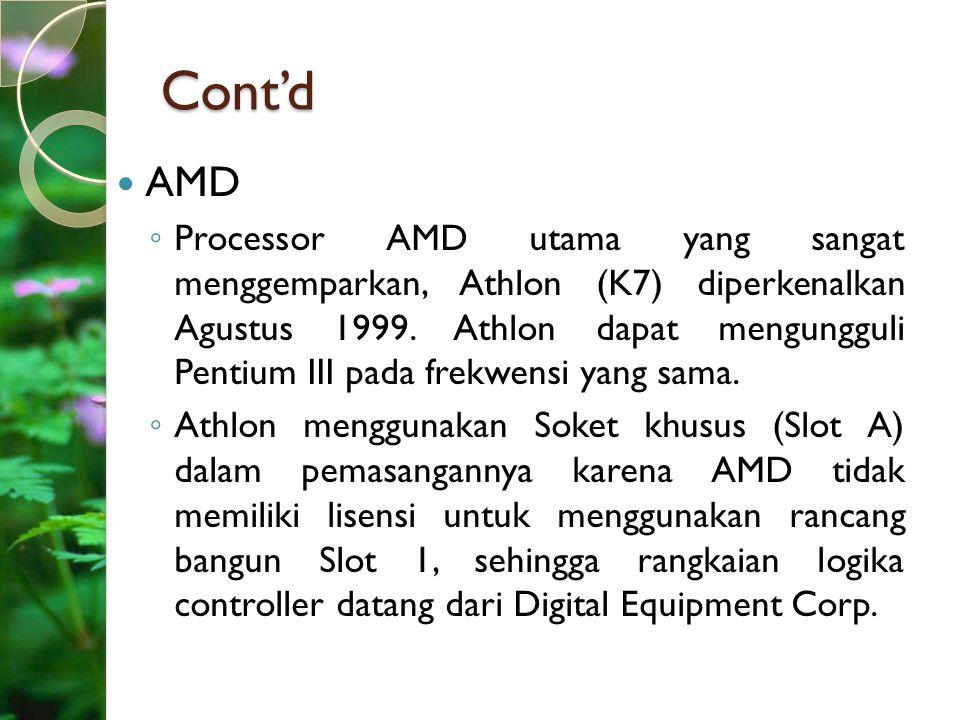 Cont'd AMD.