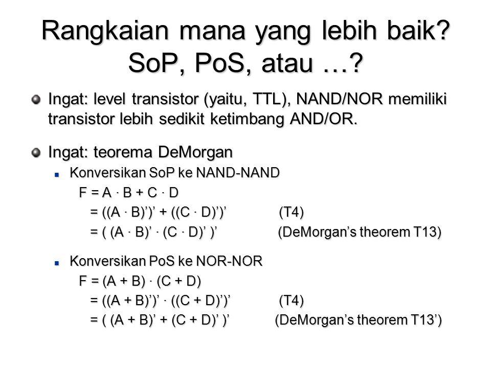 Rangkaian mana yang lebih baik SoP, PoS, atau …