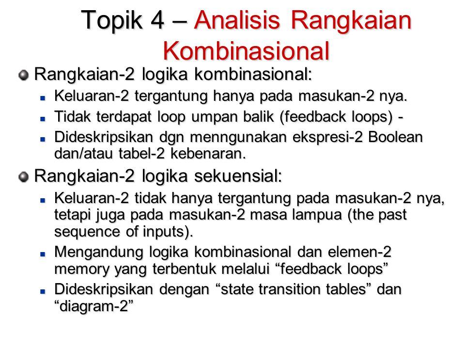 Topik 4 – Analisis Rangkaian Kombinasional