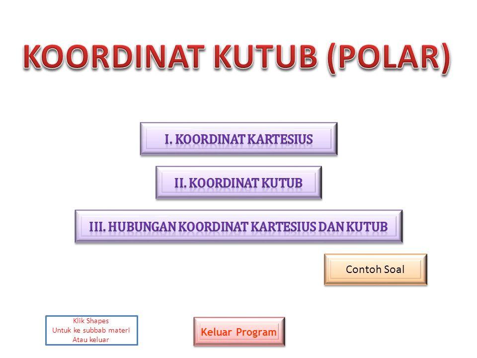 KOORDINAT KUTUB (POLAR) III. Hubungan koordinat kartesius dan kutub