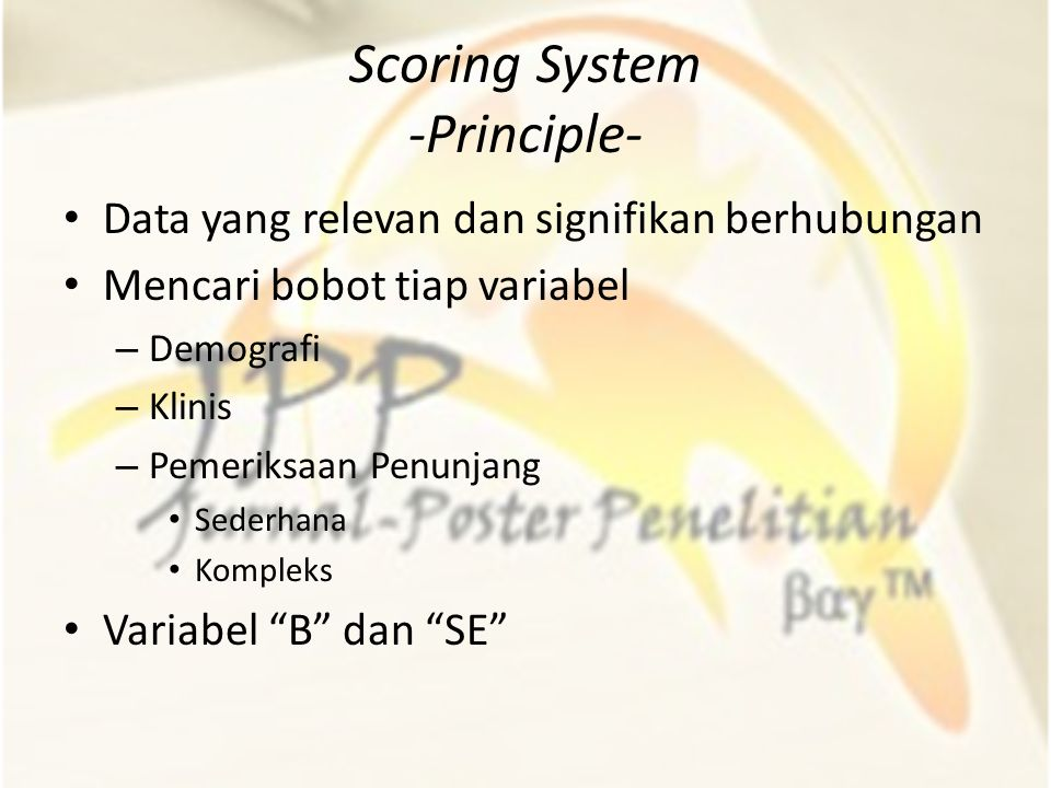 Scoring System -Principle-