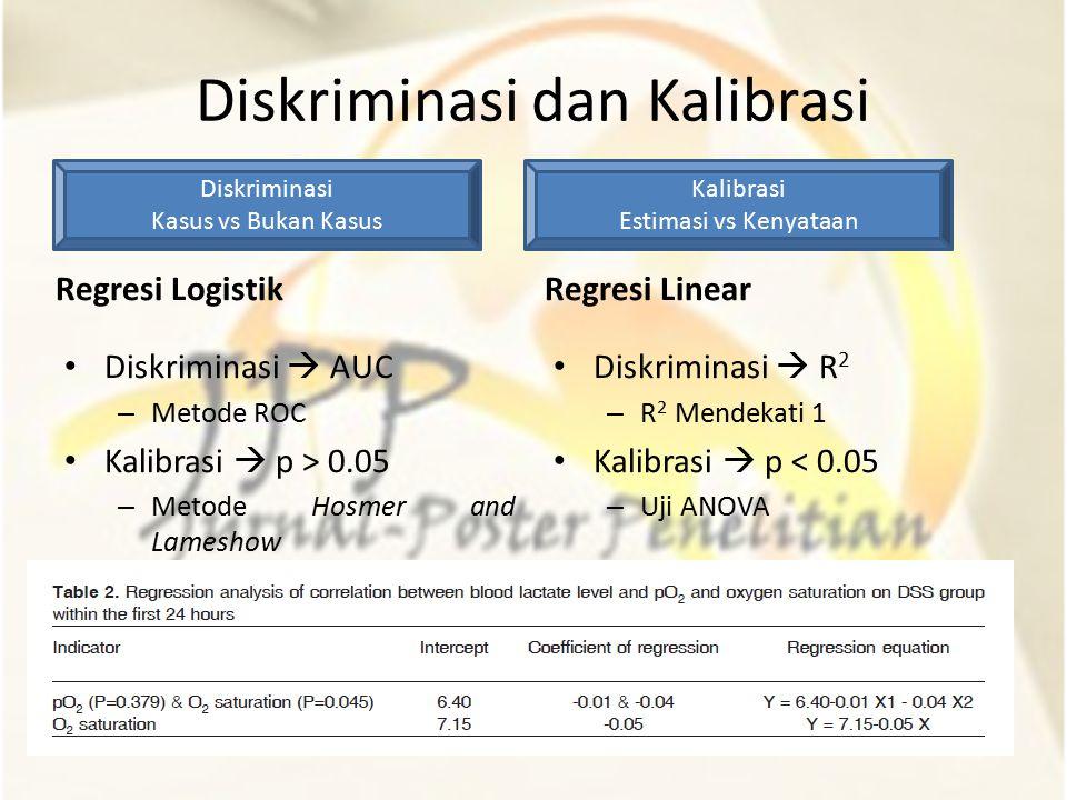 Diskriminasi dan Kalibrasi