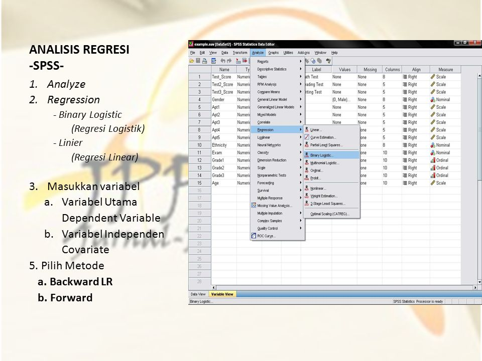 ANALISIS REGRESI -SPSS-