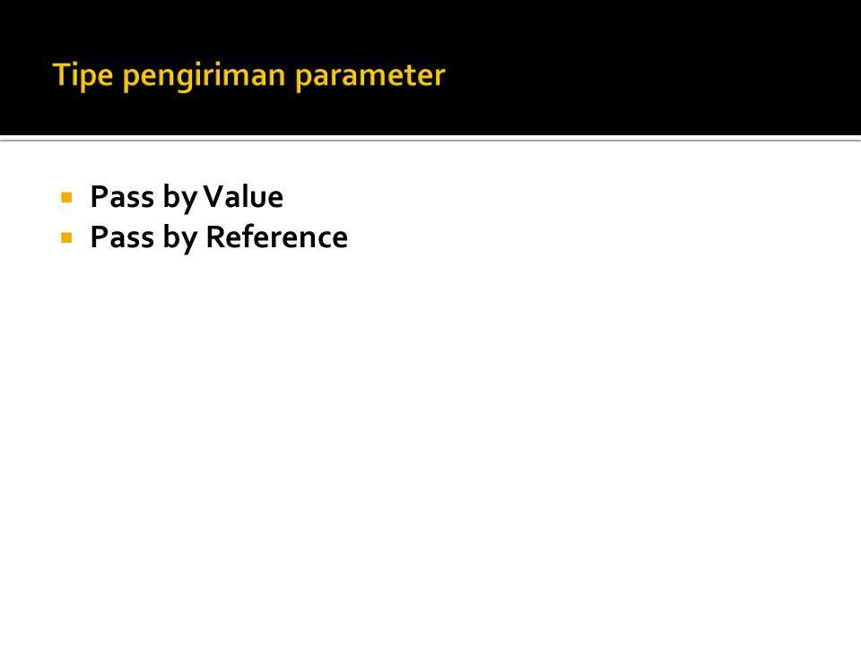 Tipe pengiriman parameter